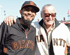 Sergio Romo with Stan Lee