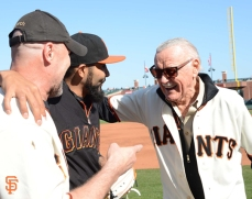 Michael Rooker with Sergio Romo and Stan Lee