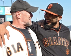 Michael Rooker with Sergio Romo