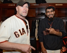 Michael Rooker and Sergio Romo