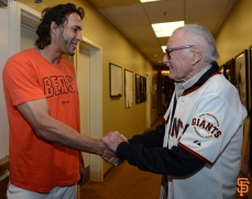 Michael Morse and Stan Lee