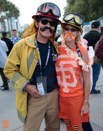 San Francisco Giants, S.F. Giants, photo, 2014, Firefigher Appreciation Night