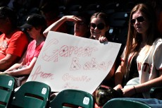 fans, june 14, 2014, sf giants, gamer babe