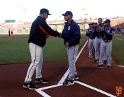 San Francisco Giants, S.F. Giants, photo, 2014, Tony Gwynn, Bruce Bochy, Bud Black
