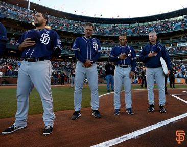 San Francisco Giants, S.F. Giants, photo, 2014, Tony Gwynn, Dave Roberts, Bud Black