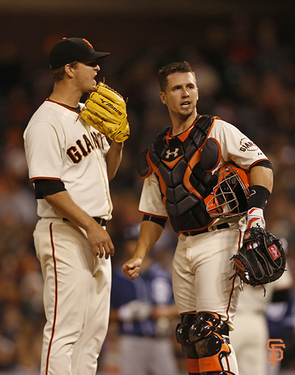 San Francisco Giants, S.F. Giants, photo, 2014, Matt Cain, Buster Posey