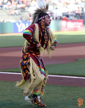 San Francisco Giants, S.F. Giants, photo, 2014, Native American Heritage