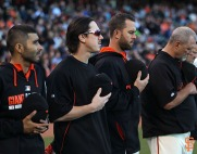 San Francisco Giants, S.F. Giants, photo, 2014, Tony Gwynn, Tim Lincecum