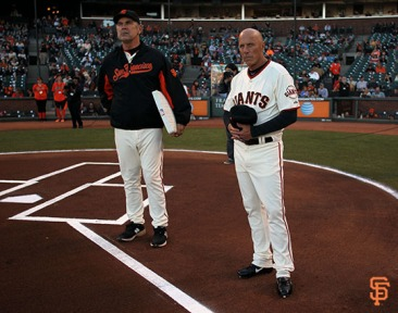 San Francisco Giants, S.F. Giants, photo, 2014, Tony Gwynn, Bruce Bochy, Tim Flannery