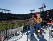 San Francisco Giants, S.F. Giants, photo, 2014, Pixar, John Lasseter, Woddy