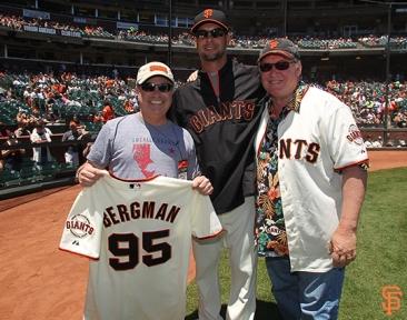 San Francisco Giants, S.F. Giants, photo, 2014, Alan Bergman, Ryan Vogelsong, John Lasseter, Pixar