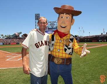 San Francisco Giants, S.F. Giants, photo, 2014, Pixar, Kirk Rueter, Woody