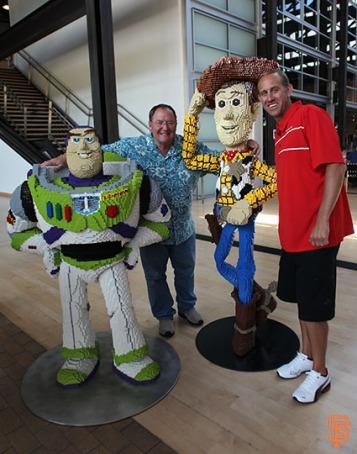 San Francisco Giants, S.F. Giants, photo, 2014, Pixar, Kirk Rueter, Woody, John Lasseter