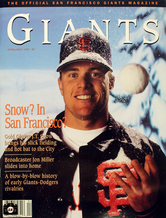 SAN FRANCISCO GIANTS, MAGAZINE, JT SNOW