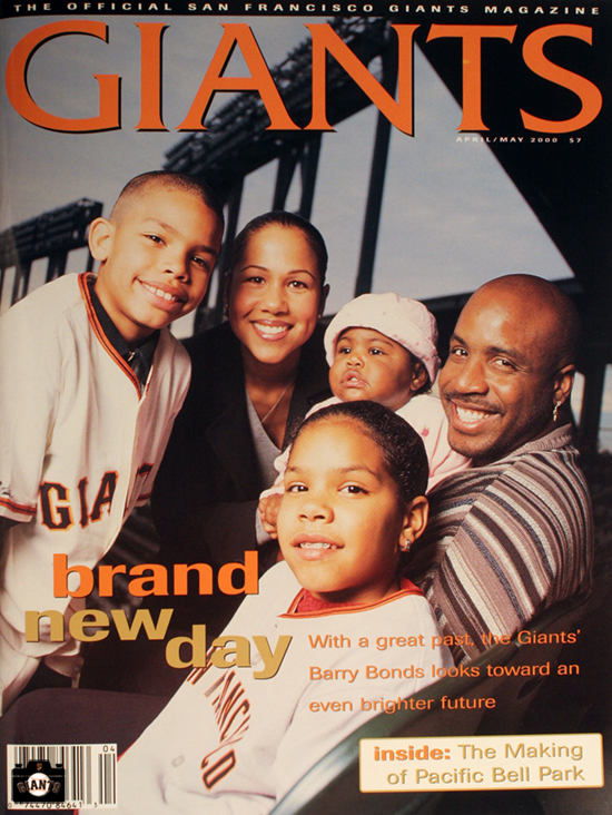 giants magazine, 2000, barry bonds, april, brand new day
