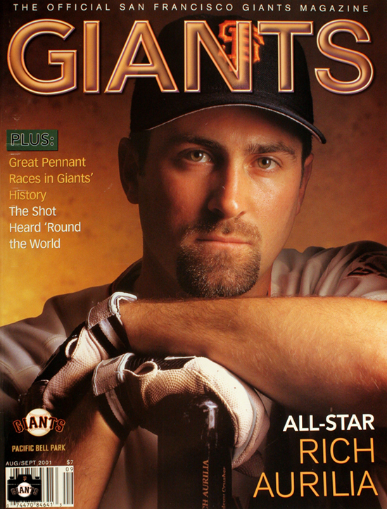giants magazine, 2001, Rich Aurilia, All-Star