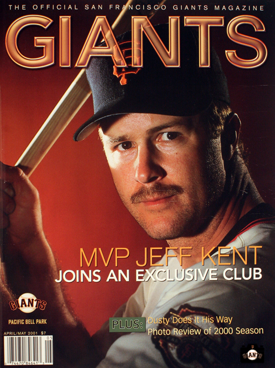 giants magazine, 2001, jeff kent, mvp jeff kent, joins an exclusive club