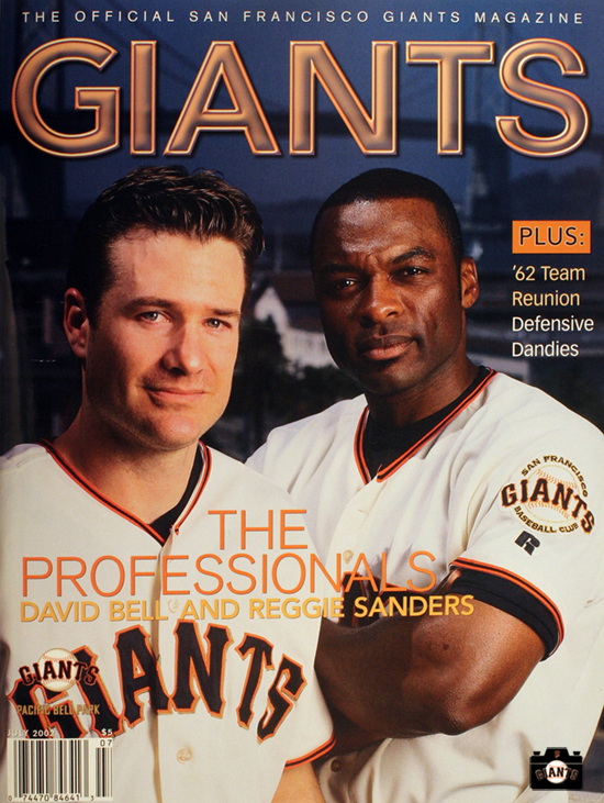 david bell, reggie sanders,2002 giants magazine
