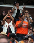 2014 sf giants, fans, 300 consecutive sold old games