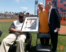 Willie McCovey, Dave Dravecky & Larry Baer