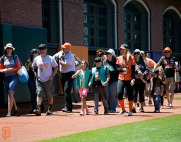 San Francisco Giants, S.F. Giants, photo, 2014, Girl Scouts