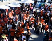 San Francisco Giants, S.F. Giants, photo, 2014, Tainted Love, Orange Friday Happy Hour