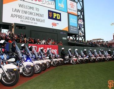 San Francisco Giants, S.F. Giants, photo, 2014, Law Enforcement Night