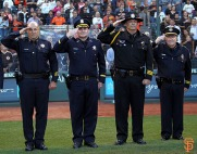 San Francisco Giants, S.F. Giants, photo, 2014, Law Enforcement Night