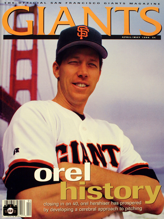 1999, giants magazine, orel history, orel hershiser