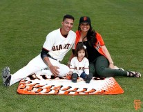 San Francisco Giants, S.F. Giants, photo, 2014, Family Day, Ehire Adrianza