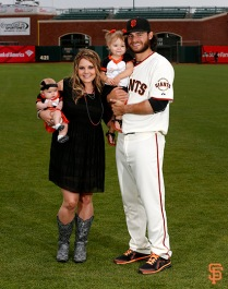 San Francisco Giants, S.F. Giants, photo, 2014, Family Day, Brandon Crawford