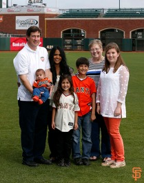 San Francisco Giants, S.F. Giants, photo, 2014, Family Day, Bobby Evans