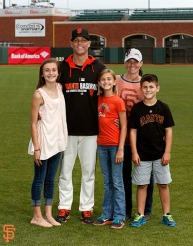 San Francisco Giants, S.F. Giants, photo, 2014, Family Day, Tim Hudson