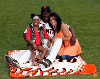 San Francisco Giants, S.F. Giants, photo, 2014, Family Day, Roberto Kelly