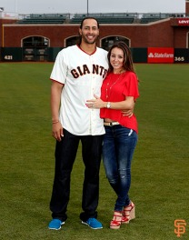 San Francisco Giants, S.F. Giants, photo, 2014, Family Day, Michael Morse