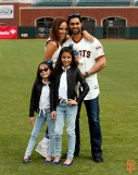San Francisco Giants, S.F. Giants, photo, 2014, Family Day, Angel Pagan