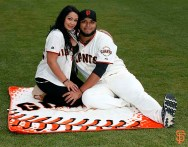 San Francisco Giants, S.F. Giants, photo, 2014, Family Day, Yusmeiro Petit