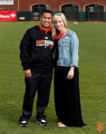 San Francisco Giants, S.F. Giants, photo, 2014, Family Day, Anthony Reyes