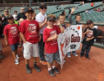 San Francisco Giants, S.F. Giants, photo, 2014, Junior Giants