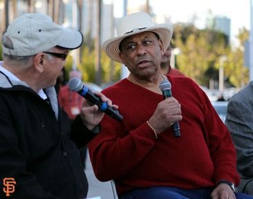 San Francisco Giants, S.F. Giants, photo, 2014, KNBR Night, Marty Lurie, Orlando Cepeda