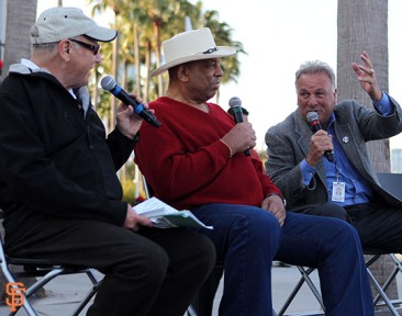 San Francisco Giants, S.F. Giants, photo, 2014, KNBR Night, Marty Lurie, Orlando Cepeda, Ed Montague