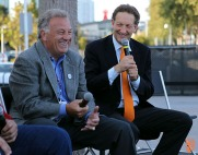 San Francisco Giants, S.F. Giants, photo, 2014, KNBR Night, Marty Lurie, Ed Montague, Larry Baer