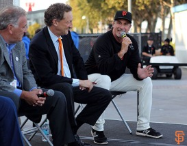 San Francisco Giants, S.F. Giants, photo, 2014, KNBR Night, Marty Lurie, Larry Baer, Ron Wotus