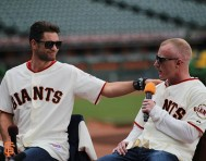San Francisco Giants, S.F. Giants, photo, 2014, Chris Algieri, Tim Lane