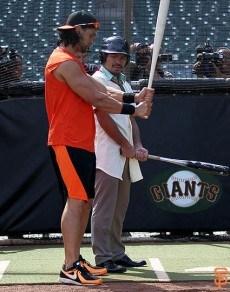 Angel Pagan and Manny Pacquiao