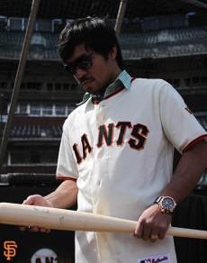 San Francisco Giants, S.F. Giants, photo, 2014, Manny Pacquiao