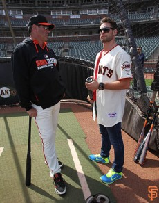 San Francisco Giants, S.F. Giants, photo, 2014, Will Clark, Chris, Algieri