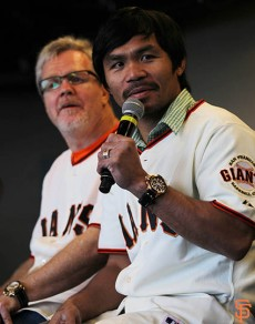 San Francisco Giants, S.F. Giants, photo, 2014, Manny Pacquiao