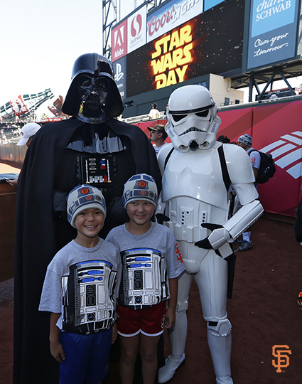 august 31, 2014, star wars day, AT&T Park, image
