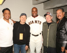 Willie Mays, Billy Crystal, Barry Bonds, Robin Williams, Juan Marichal